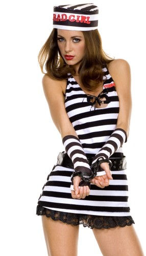 コスチューム LML70191 Bad Girl Jail Bird Costume
