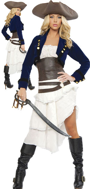 コスチューム LRB4245 Deluxe 6pc Colonial Pirate Costume