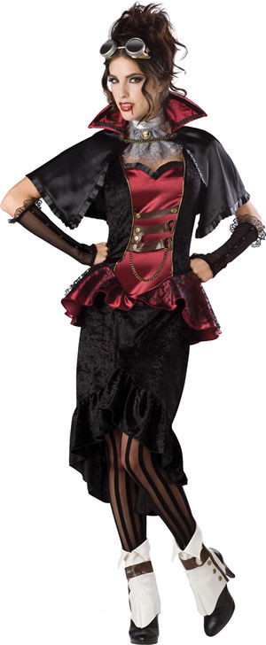 コスチューム LIC1089 Steampunk Vampiress Costume