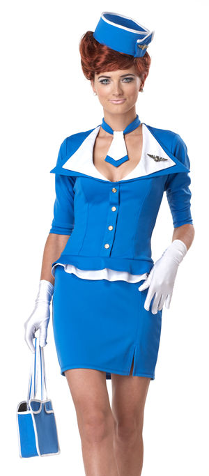 コスチューム LCC01209 Retro Stewardess Costume