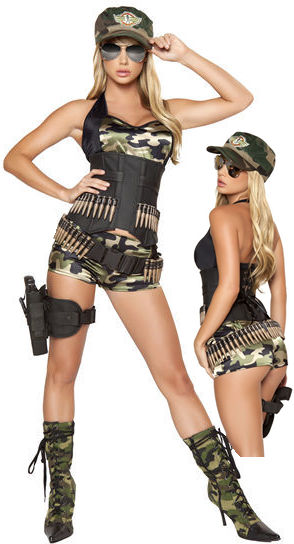 コスチューム LRB4332 5pc Army Babe Costume