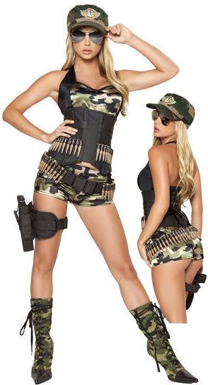 コスチューム LRB4332 5pc Army Babe Costume