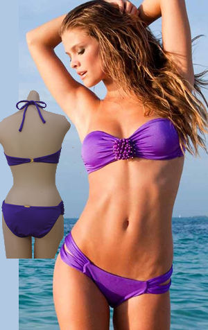 輸入水着 LSV3822SUP-3780SUP Sea Urchin Bandeau Top and Double Strap Low Rise Bottom