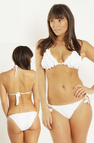 輸入水着 LBML2310-105871 Summery Ewen White Bikini