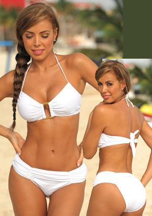 輸入水着 LUJR244 White Vanity Fair Bikini