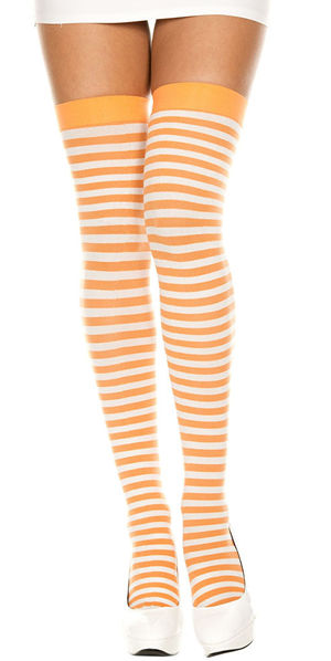 コスチューム LML4741 Opaque Striped Thigh Hi
