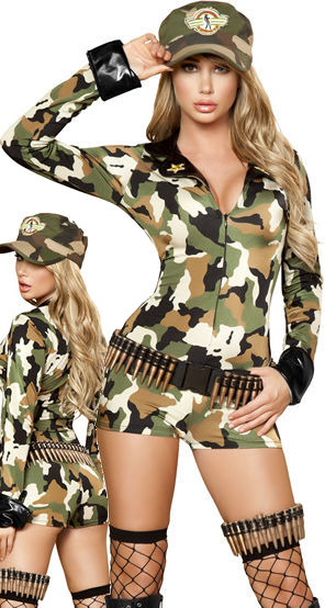 コスチューム LRB4386-4387 Sexy Soldier Costume with Belt