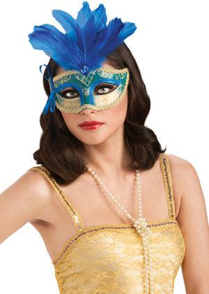 コスチューム LRU4807 Featherd Carnival Eyemask