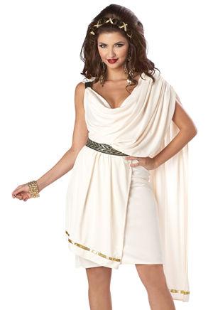 コスチューム LCC01151 Womens Deluxe Classic Toga Costume