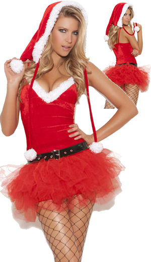 コスチューム LEM9062 Santas Sweetie Costume 3pc Set