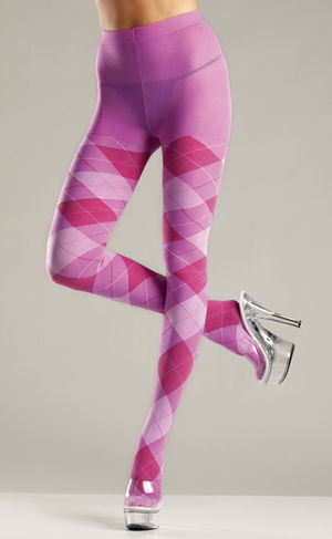 コスチューム LBW646 Bubble Gum Argyle Tights