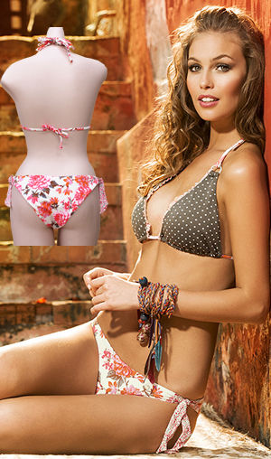 輸入水着 LPH540006-320033 Isis Triangle Bikini with Latin Cut Tie Side Bottom
