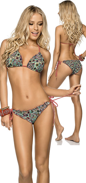 輸入水着 LPH510067-360018 Ancora Triangle Bikini with Latin Cut Bottom
