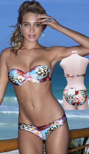 輸入水着 LLFL370083-370521 La Isla Bonita Underwire Push-Up Bandeau Bikini
