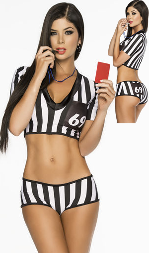 コスチューム LEP6212 Fair-play Hottie Referee Costume