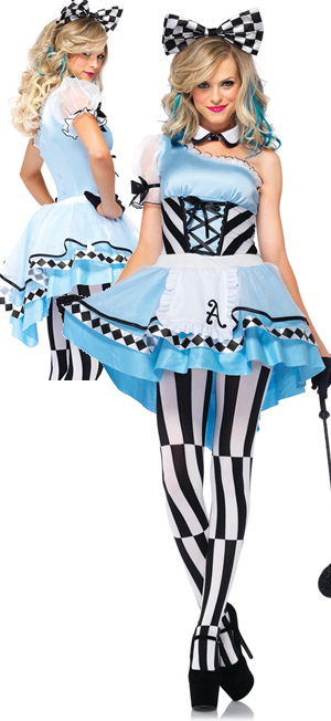 コスチューム LLA85225-7904 Psychedelic Alice Costume with Stockings