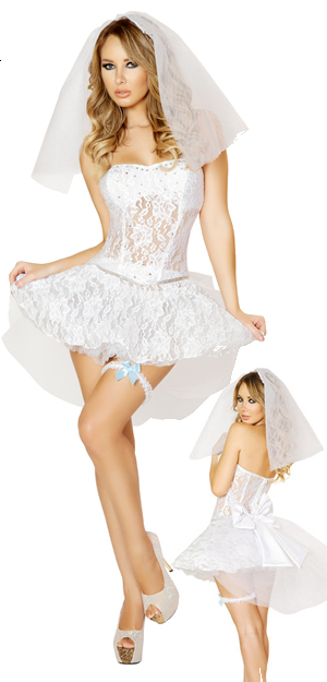 コスチューム LRB4546 4pc Sexy Newlywed Costume