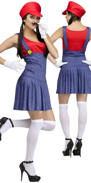 コスチューム LFU110834R Pretty Plumber Mario Costume