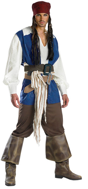 コスチューム LDS5101 Captain Jack Sparrow Classic Adult Costume