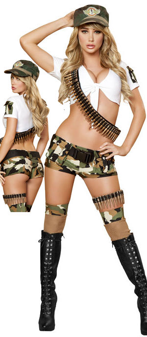 コスチューム LRB4388-4389 Sass Arm Brat Costume with Bullet Bandolier