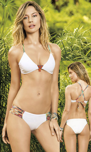 輸入水着 LHA15T19-15B19 Sinu Strappy Side Bikini with Beads Accent