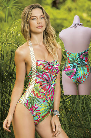 輸入水着 LHA15E15 Cumbal Tropical Print One Piece Swimwear