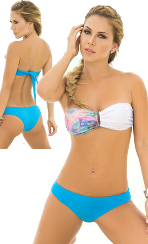 輸入水着 LEP6764 Printed Bandeau Bikini