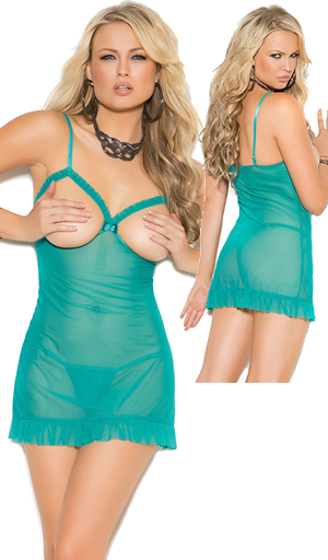 輸入下着 LEM4107 Mesh Cupless Babydoll and G-string