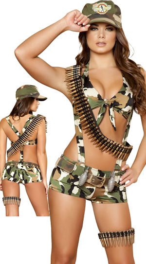 コスチューム LRB4391-4389 Seductive Sodier Costume with Bullet Bandolier