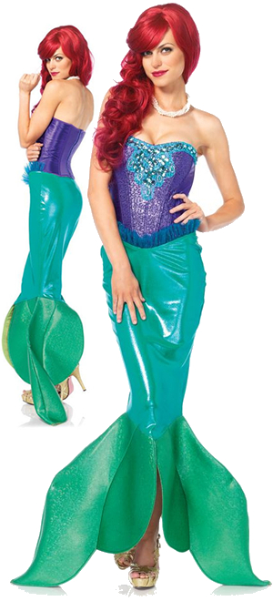 コスチューム LLA85368 Deep Sea Siren Costume 2pc
