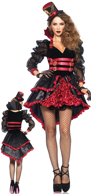 コスチューム LLA85399 Victorian Vamp Costume 3pc