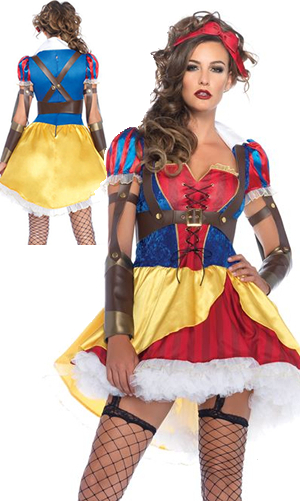 コスチューム LLA85430-8990 Rebel Snow White Costume with Petticoat