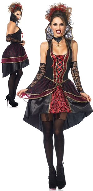 コスチューム LLA85435 Vampire Queen Costume 3pc