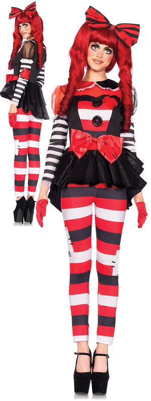 コスチューム LLA85443 Rag Doll Costume 3pc