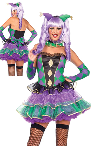 コスチューム LLA85464-8990 Mardi Gras Sweetie Costume with Petticoat