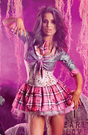 コスチューム LPKPK169 School Girl Zombie Costume