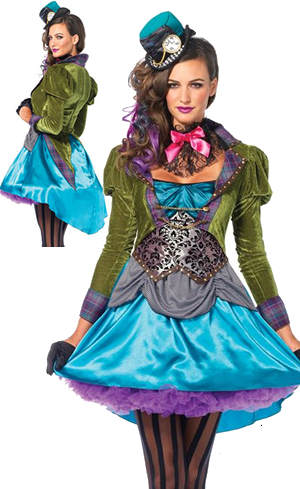 コスチューム LLA85505-8990 Deluxe Mad Hatter Costume with Petticoat