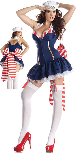 コスチューム LPKPK175 Pin Up Sailor Body Shaper Costume