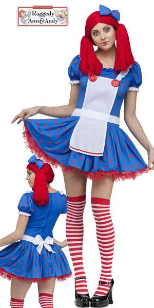 コスチューム LFU100224 Sassy Raggedy Ann Costume