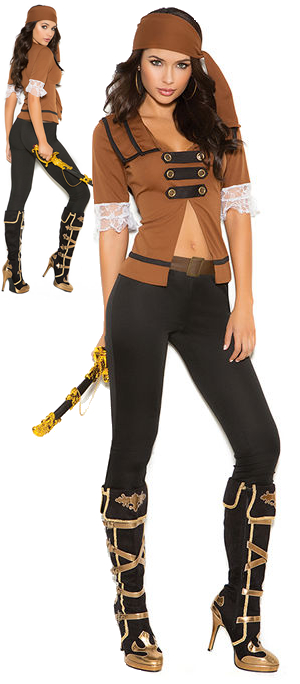 コスチューム LEM9098 Treasure Pirate Costume 4pc