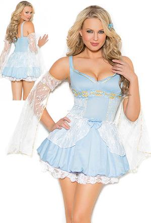 コスチューム LEM9135-9372 Sassy Cinder Babe Costume with Petticoat