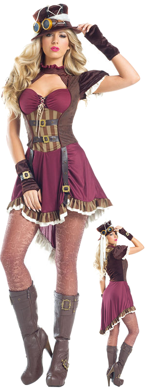 コスチューム LBW1548 Steampunk Rider Costume 4pc