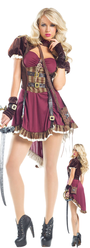 コスチューム LBW1549-224 Steampunk Pirate Costume with Sword