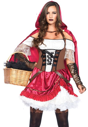 コスチューム LLA85445-3742 Rebel Riding Hood Costume Set