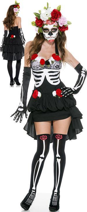 コスチューム LML70625 Mrs. Muerte Costume