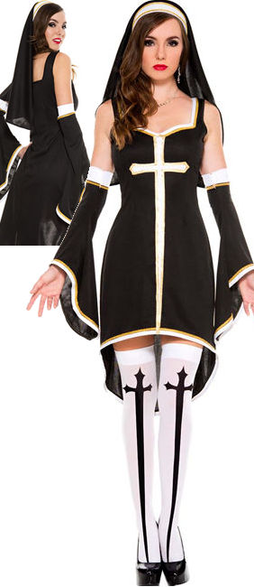 コスチューム LML70569 Sinfully Hot Nun Costume