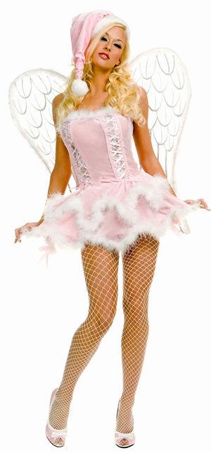 コスチューム LML70183 Pink Velvet Miss Santa Costume