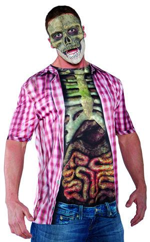 コスチューム LUW29609 Photo Real Shirt Skelton with Guts