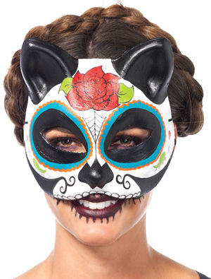 コスチューム LLA3735 Sugar Skull Cat Mask