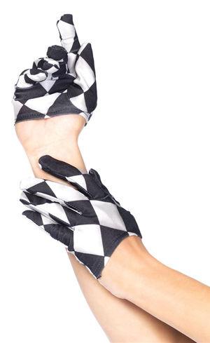 コスチューム LLA3740 Harlequin Mini Cropped Gloves